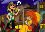 Luigi and Daisy-Valentine day by Princesa-Daisy