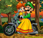 Luigi and Daisy - Sunset ride by Princesa-Daisy