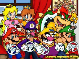 Mario Kart Wii - Boys time by Princesa-Daisy