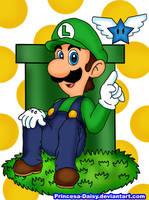 Luigi the lightning angel by Princesa-Daisy