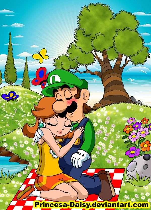 Luigi x Daisy by Princesa-Daisy