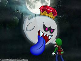Luigi and King Boo by Princesa-Daisy