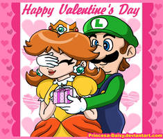 Luigi and Daisy - Valentine's day by Princesa-Daisy