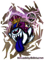 Mario Strikers Charged Football captain: King Boo by Princesa-Daisy