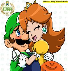 Luigi and Daisy - Year of Luigi by Princesa-Daisy