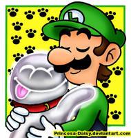 Luigi and Polterpup (Aka- Nicco) by Princesa-Daisy