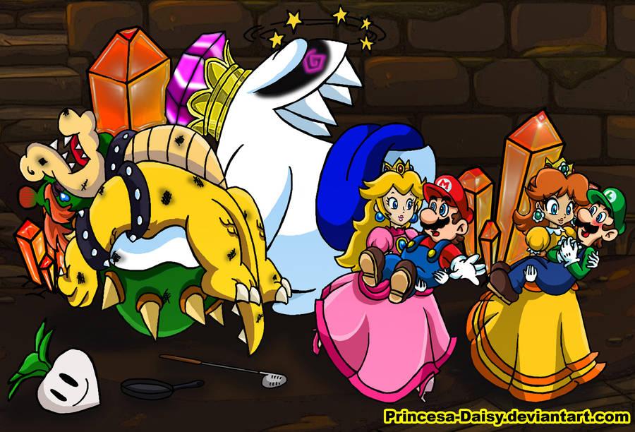 Daisy and Peach - It's our turn now by Princesa-Daisy
