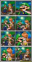 Luigi and Daisy - Awkward date by Princesa-Daisy