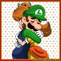 Luigi and Daisy - Be my Valentine by Princesa-Daisy