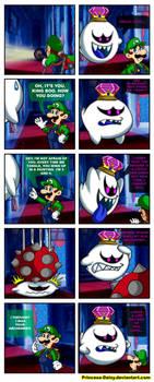 King Boo and Luigi - My old archenemy by Princesa-Daisy