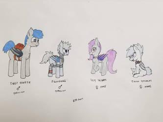 Northern Bat Pony OCs by EmberPon3