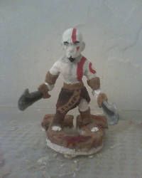 Kratos in Paperclay by therick96