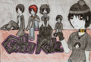 The Goth kids of South Park by bailey1rox