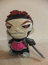 X-Men Gambit Munny by evogal