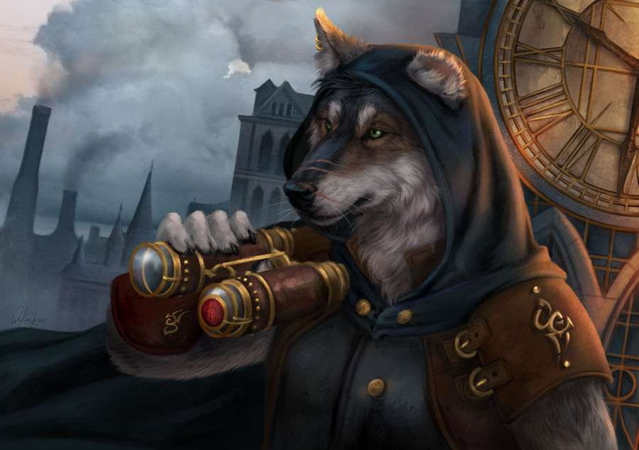 Wolf of steampunk by Wolnir