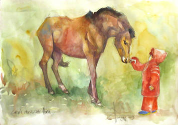 Calvin and the horse by aureolin-swatch