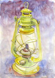 Yellow Paraffin Lamp by aureolin-swatch