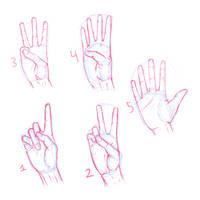 Challenge - Hands #1-5 by Chezzie-Chan