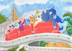 At Disneyland- Peoplemover by foxxy-arts
