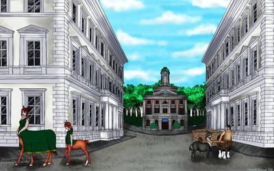 Centaur Town by OceaChan
