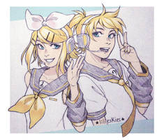 Kagamine Twins by lilieskies