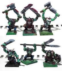 Orc warriors by ElliugOmrot