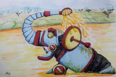 Robotic elephant by ElliugOmrot