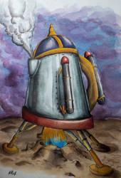 Space shuttle teapot by ElliugOmrot