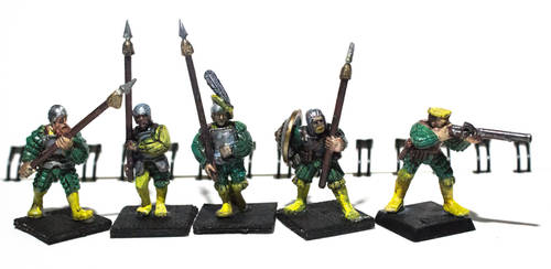 Imperial soldiers - City guards (green/yellow) by ElliugOmrot