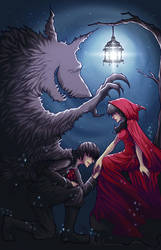 Little Red and Wolf by Sylfaenn