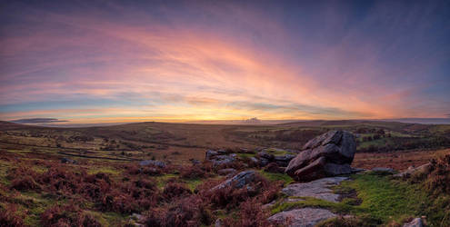 Dartmoor sunset by Mgsblade