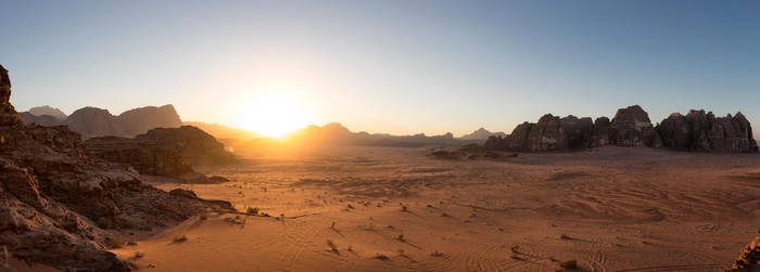 Wadi rum sunset by Mgsblade