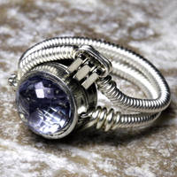 Steampunk Ring Blue Mystic by CatherinetteRings