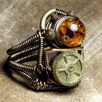 Steampunk 2X ring by CatherinetteRings