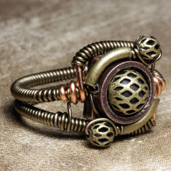 orbit armor steampunk ring by CatherinetteRings