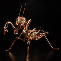 Steampunk Sculpture Praying MANTIS 2 by CatherinetteRings
