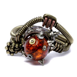 Steampunk Jewelry Mad Ring by CatherinetteRings