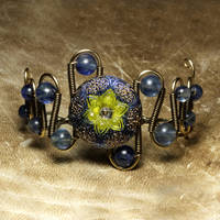 Steampunk Bracelet Blueberry by CatherinetteRings