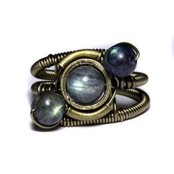 Steampunk Spectro-orbit ring by CatherinetteRings