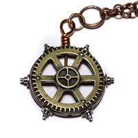 Steampunk Gear pendant by CatherinetteRings
