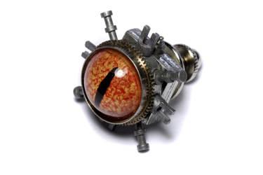 Steampunk Jewelry Tie tack eye by CatherinetteRings