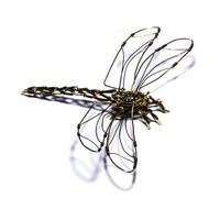 Steampunk Sculpture Dragonfly by CatherinetteRings