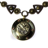 Steampunk Necklace Clockwork 1 by CatherinetteRings