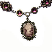 Steampunk Cameo Necklace 2 by CatherinetteRings