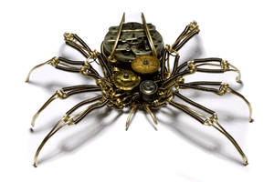 Steampunk Spider Sculpture 7 by CatherinetteRings