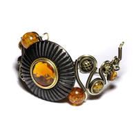 Steampunk Bracelet Amber by CatherinetteRings