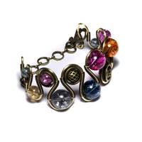 Steampunk Bracelet Tourmaline by CatherinetteRings