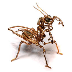 Steampunk Praying Mantis by CatherinetteRings