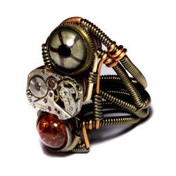 Prototype Steampunk Ring by CatherinetteRings