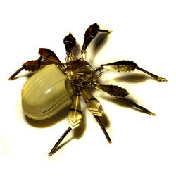 Steampunk Art Deco Spider Sculpture ring box by CatherinetteRings